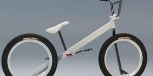BMX-cykel utan nav och kedjedrift