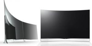 Böjd OLED-tv från LG