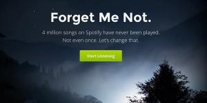 Forgotify spelar upp låtar ingen lyssnat på tidigare