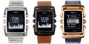 Stilren smartwatch i rostfritt stål från MetaWatch