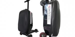 Väskan som också är en motordriven scooter