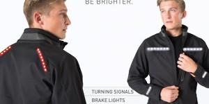 Lumenus har gjort jackor och ryggsäckar med inbyggda blinkers