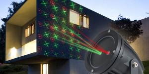 Färga husväggen med en laserprojektor